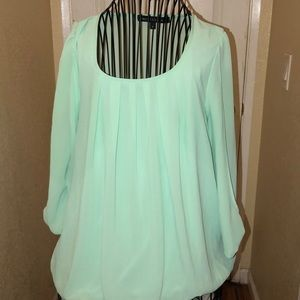 Mint top no buttons pullover